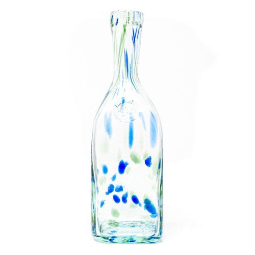 bottle confetti blue green