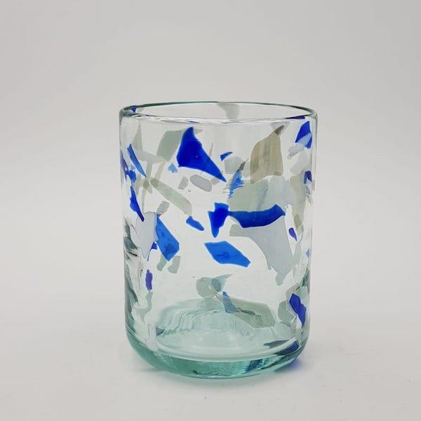terrazzo blue glass