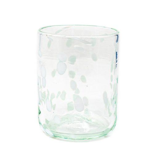 confetti white glass